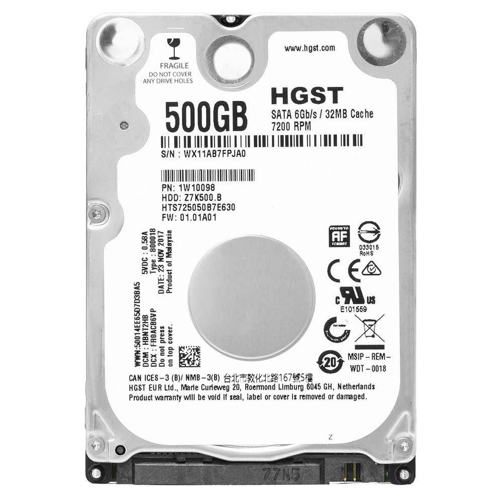 HDD Hitachi 500GB/7200 Sata For Laptop