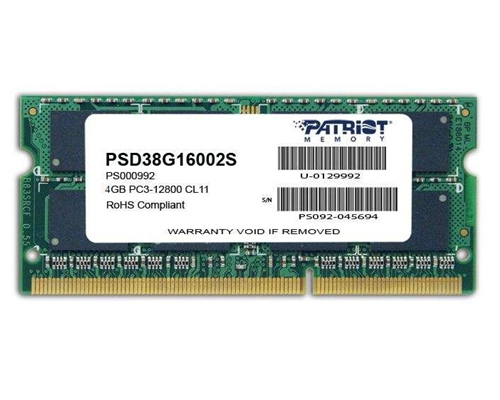DDRam Notebook 4GB/1600 Patriot