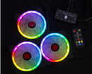Set 3 Fan CoolMoon (Coolman) Sunshine RGB + Hub + điều khiển